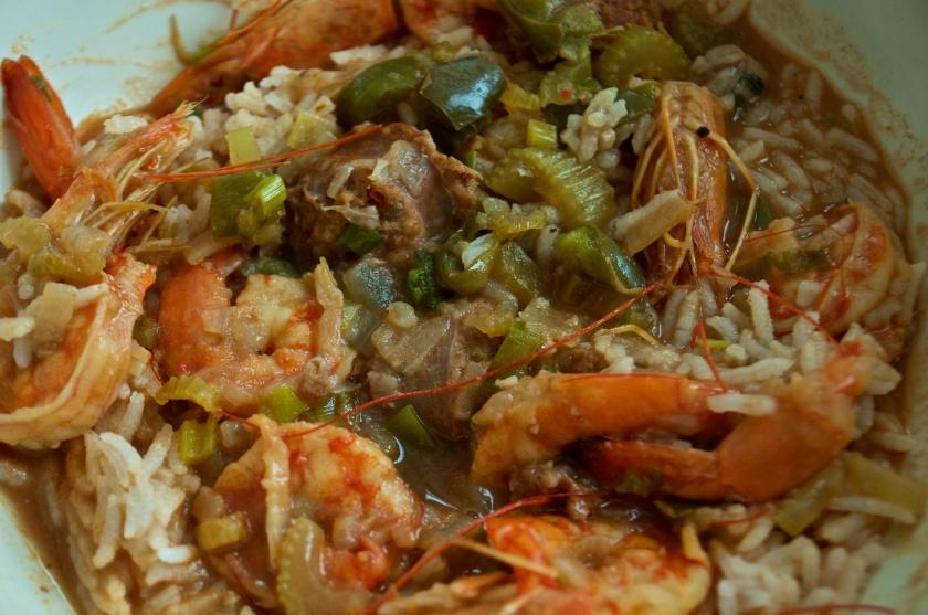 Shrimp and Sausage Gumbo, Dec 3, 2012