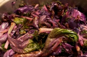 November 22, 2012. Sauteed purple kale.