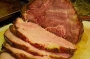 November 22, 2012. Glazed ham.