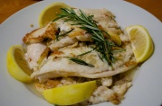 Dec 24, 2012. Feast of seven Fishes. Pan-fried flounder with rosemary and lemon.