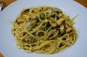 Dec 24, 2012. Feast of Seven Fishes. Spaghetti con le cozze (with mussels).