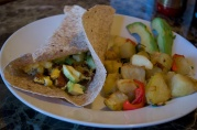 Dec 30, 2012. Whole wheat Breakfast Burrito with fried potatoes.