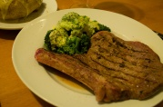 Dec 31, 2012. Grilled Steak and Broccoli with cheese sauce.