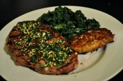 Feb 14, 2012. Steak with Gremolata, Potato Cake, Sauteed Broccoli Rabe.