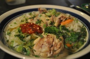 Feb 2, 2012. Asian Chicken Soup: ginger, chicken, sambal, pho noodles, cilantro, carrot.