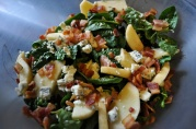 March 24, 2012. Spinach and Apple Salad.