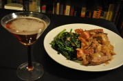 March 26, 2012. Curt's Liver and Onions, and a Manhattan in honor of the Mad Men season premiere.