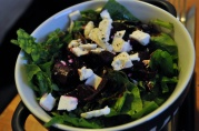 May 21, 2012. Curt's Spinach and Kim Chee Beet Salad.