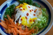 "July 10, 2012. Bibimbap. One of our favorite ""thrown together"" dishes."