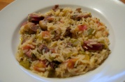 July 13, 2012. Duck, Oyster, and Andouille Sausage Jambalaya.