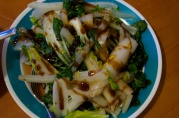 September 10, 2012. Stir fried bok choy with oyster sauce.