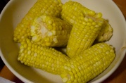 September 3, 2012. Boiled corn on the cob.